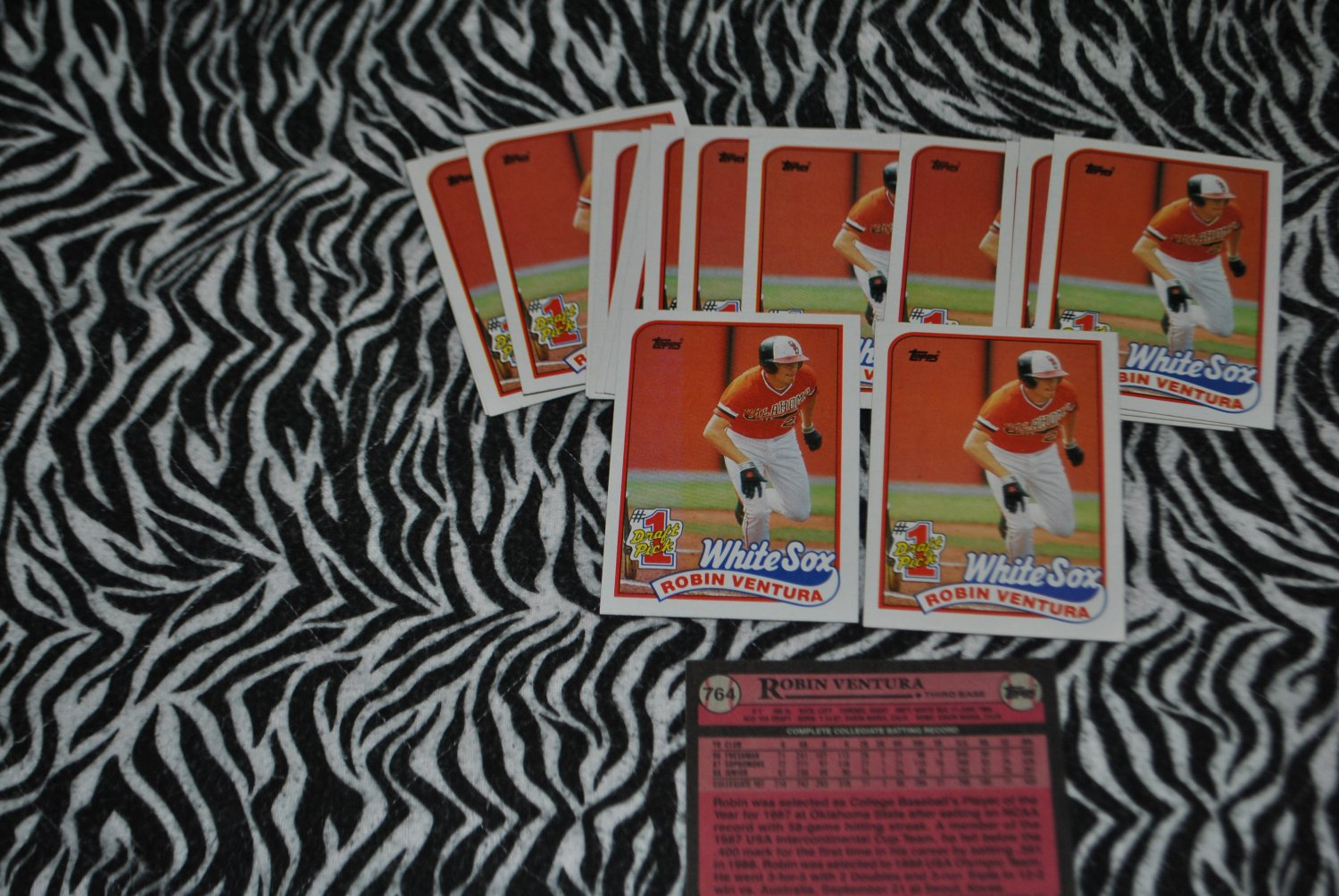 1989 topps robin venture rookie card lot