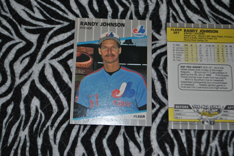 1989 randy johnson rookie card