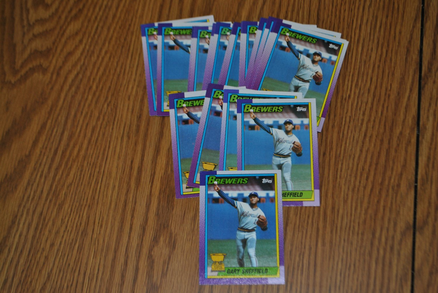 1990 topps gary sheffield all star rookie lot