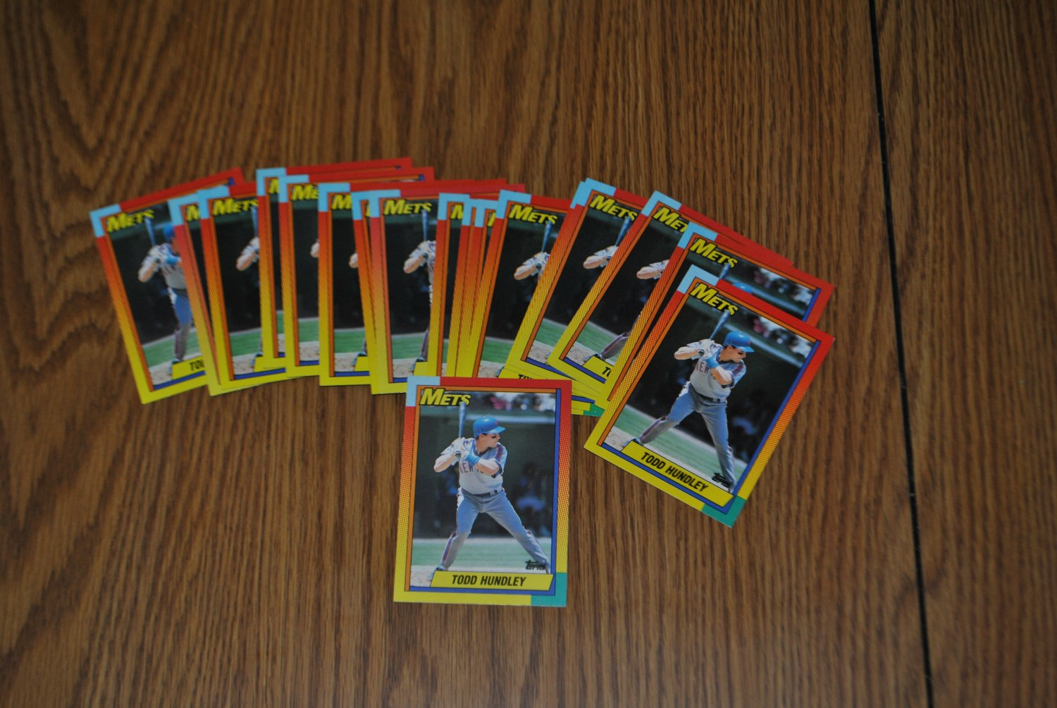 1990 topps traded todd hundley rookie card lot.