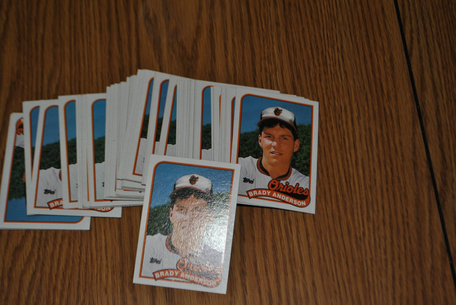 1989 topps brady anderson lot.