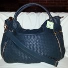 Deux Lux Handbag-Bowery B Sides Large Woven Satchel Teal or Grape-NEW- RP: $150