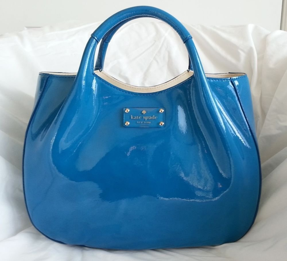 Kate Spade Handbag Harrison Street Treesh Satchel Bag in Lazuli - NWT- RP:$298