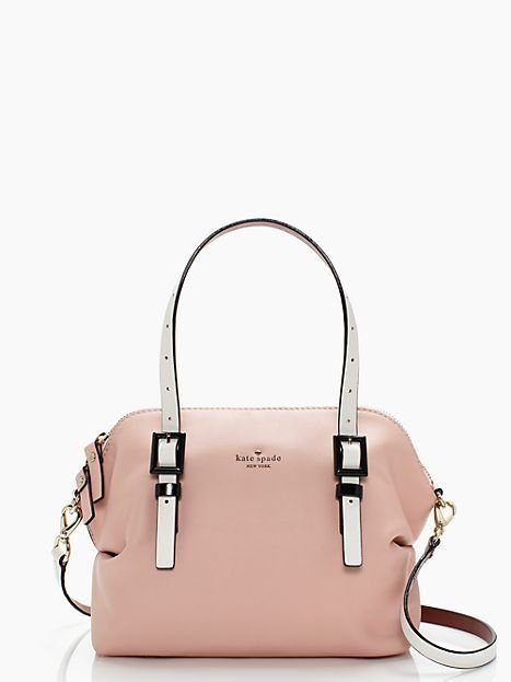 Kate Spade Handbag NEW Waverly St. Drew Satchel Handbag in Pink Champagne NWT