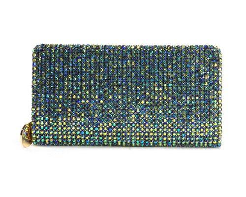 Deux Lux Wallet SparkleTwiggie Rhinestone Zip Around in 5 Colors -NWT-RP:$122