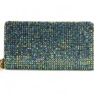 Deux Lux Wallet SparkleTwiggie Rhinestone Zip Around in 5 Colors -NWT-RP:$122