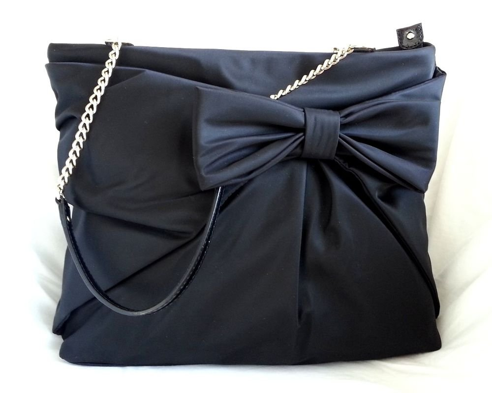 Kate Spade New York Nylon Esther in Black Hand Bag/Shoulder Bag-NWT-RP:$328