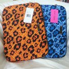 Betsey Johnson Handbags Cheetah Laptop Sleeve/Case Blue or Orange-NWT-SRP: $68