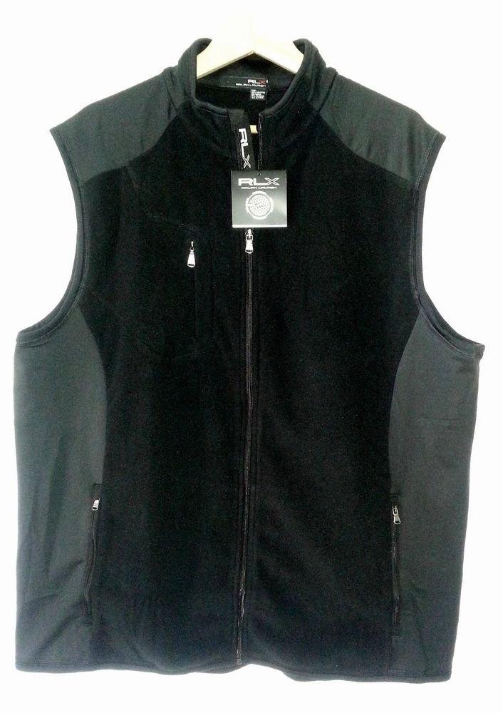 RLX Golf Full-zip Microfleece Light Weight Stretch Vest Black-NWT-XXL-SRP: $175