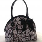 BETSEY JOHNSON GEM DANDY DOME SATCHEL HAND BAG IN BLACK SRP: $98-NWT