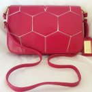 BADGLEY MISCHKA Maria Polished Leather Convertible Hex Tote Fuchsia-NWT-RP: $298