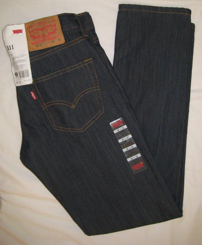 MEN'S LEVI'S 511 SKINNY, Slim Fit, Dark Blue Jeans/Pant Waterless   SIZE: 28x30