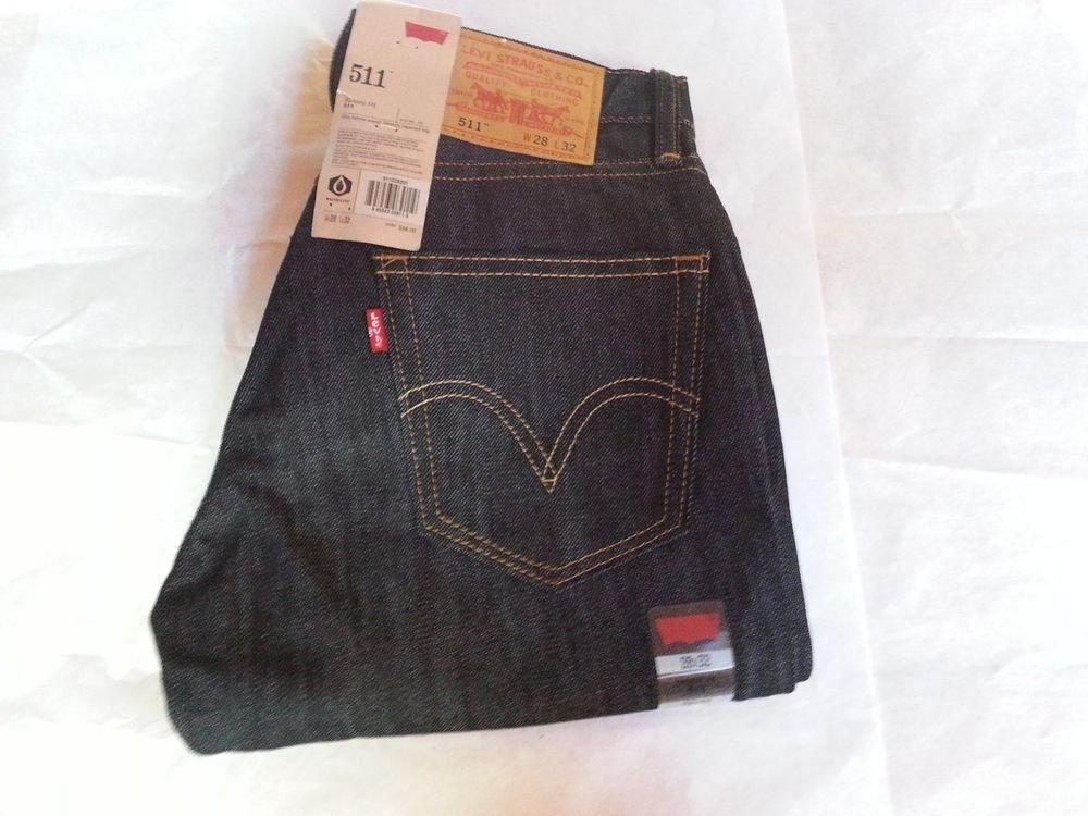 MENS'- LEVI'S 511 Skinny Fit, Dark Blue Jeans   SIZE: 28 x 32  - NWT - SRP $58