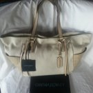 Cynthia Rowley Large Croc & Soft Genuine Leather Tote/Shoulder bag in Bone- NWT