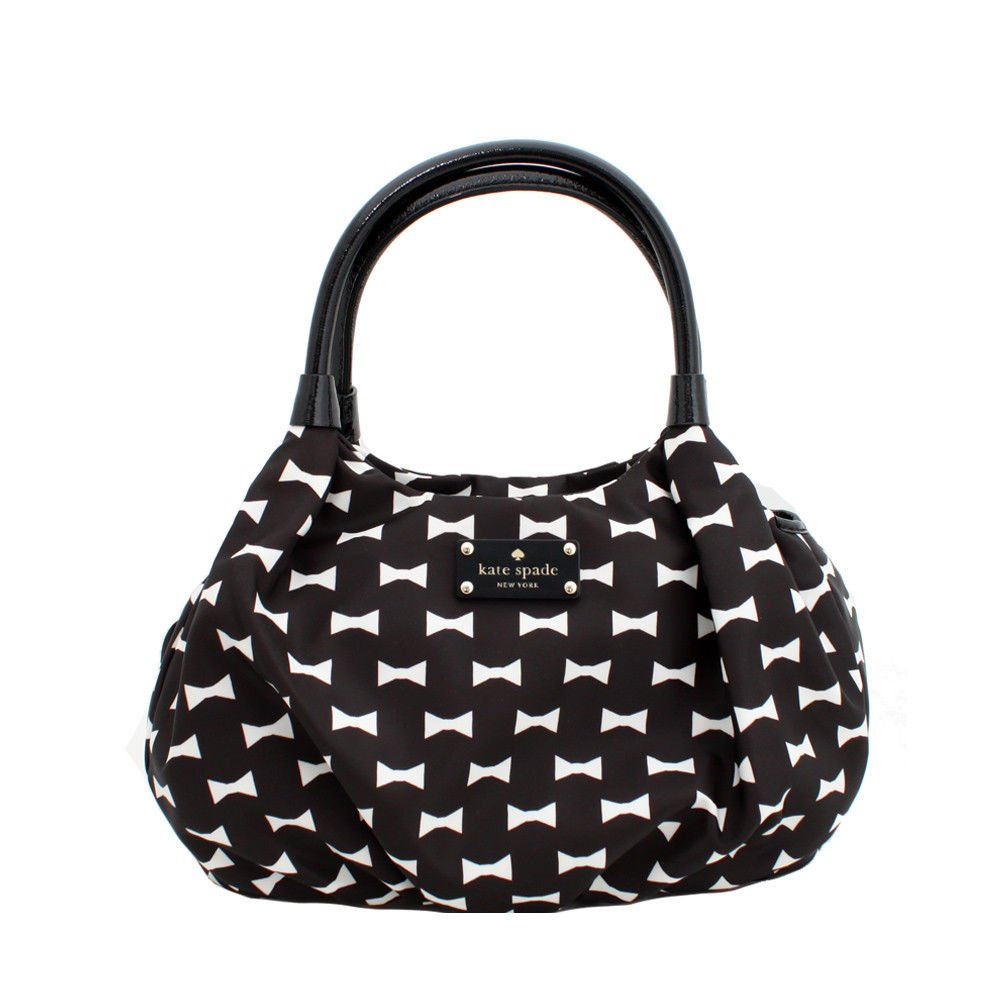 Kate Spade New York Bow Shoppe Small Karen Shoulder Bag Black/Cream-NWT-SRP:$288