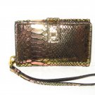 LODIS Cassie Metallic Leather Smartphone/iPhone Wristlet in Candlelight-NWT