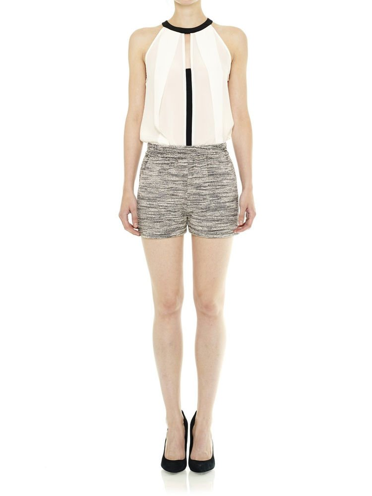 Cut25 Yigal Azrouel Insert Layer Sleeveless Silk top in Optic NWT-RP: $255