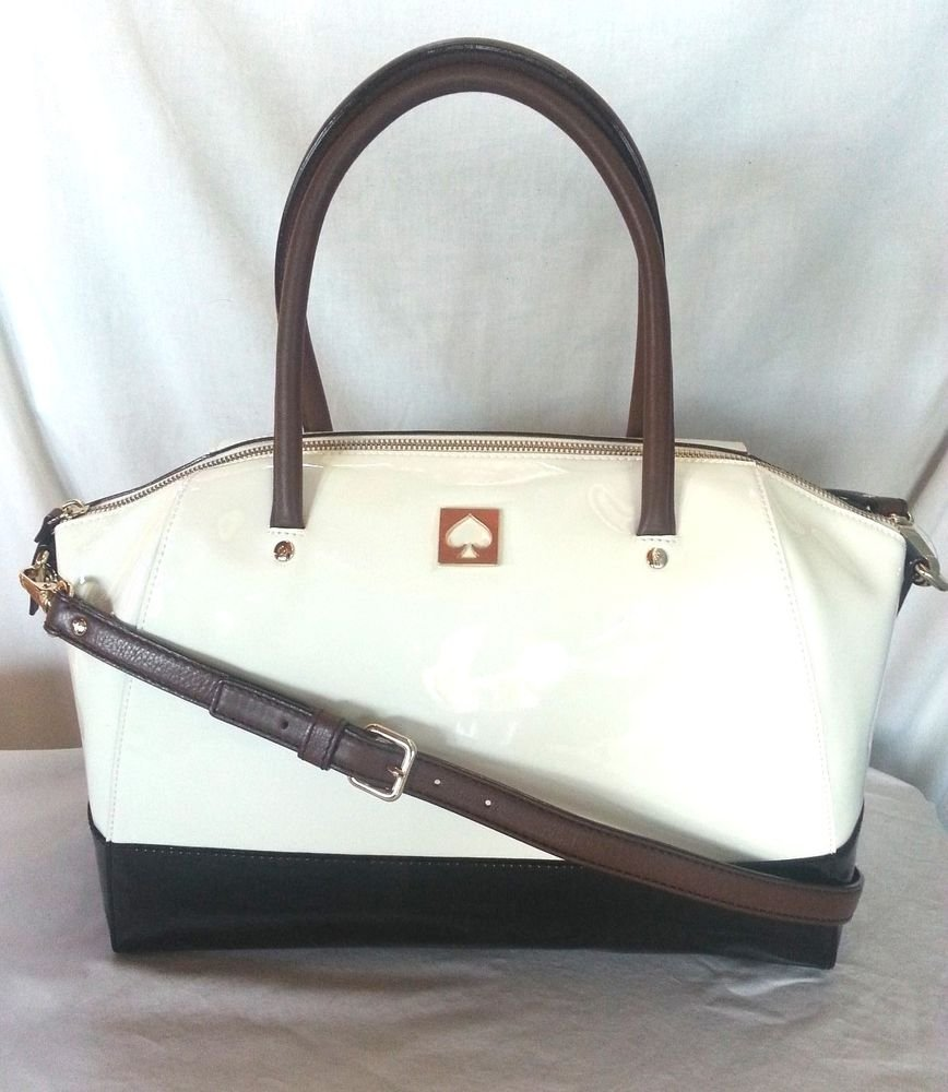 Kate Spade New York Kingsbury Park Large Catalina Bag Ice/Black-NWT: RP:$395