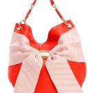 DEUX LUX Handbag Heidi Girl Bow Hobo Shoulder Bag Purse in Orange-NWT-RP: $165