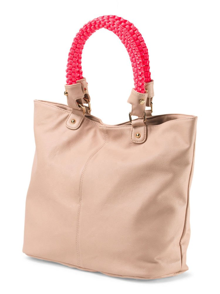Deux Lux Handbag Charming Tote Bag in Grey or Blush-NWT-RP: $185