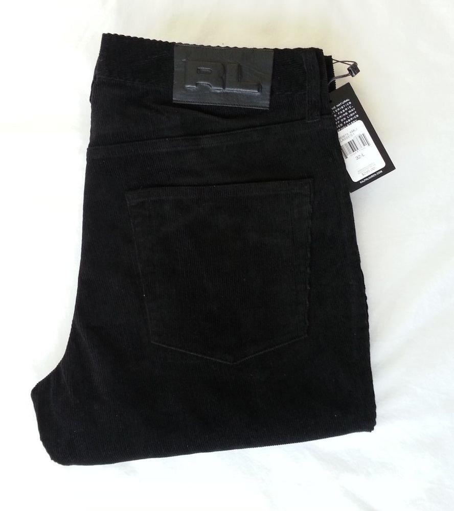 Ralph Lauren Classics Black Cord Pant/Jean-Size 32 x 33-NWT-RP: $295