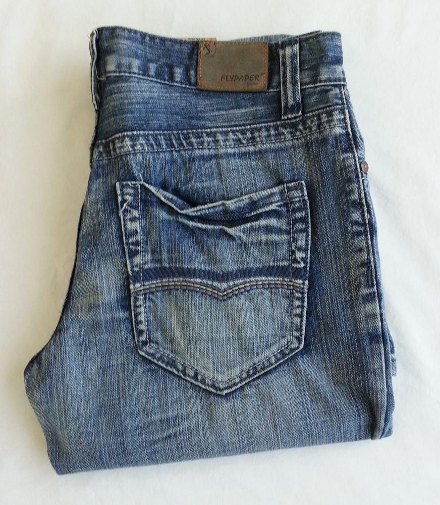 Men's Flypaper  Denim Jeans- Boot Cut in Light Blue  Sz 30x31 - NWT - SRP: $52