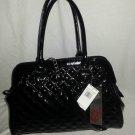 Carlos Santana Black Patent Nomad Frame Satchel Shoulder Bag-NWT-SRP:$108
