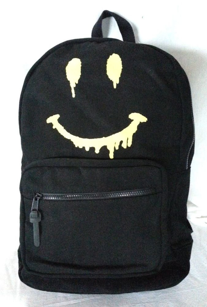 Steve Madden BSMILEY backpack in Black/Yellow-NWT-RP: $54.00