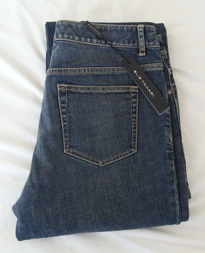 Women's Elie Tahari Nicola Denim Jean Savile Size 8-NWT-RP: $198
