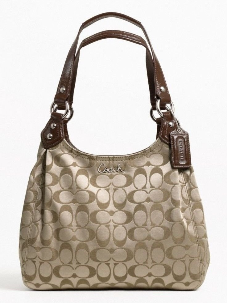 Coach Ashley Signature C Fabric Hobo/Shoulder Bag in Khaki-NWT-SRP:$298