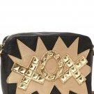 Betsey Johnson Handbags TTYL-XOX Studded Crossbody Bag in Black-NWT-RP: $78