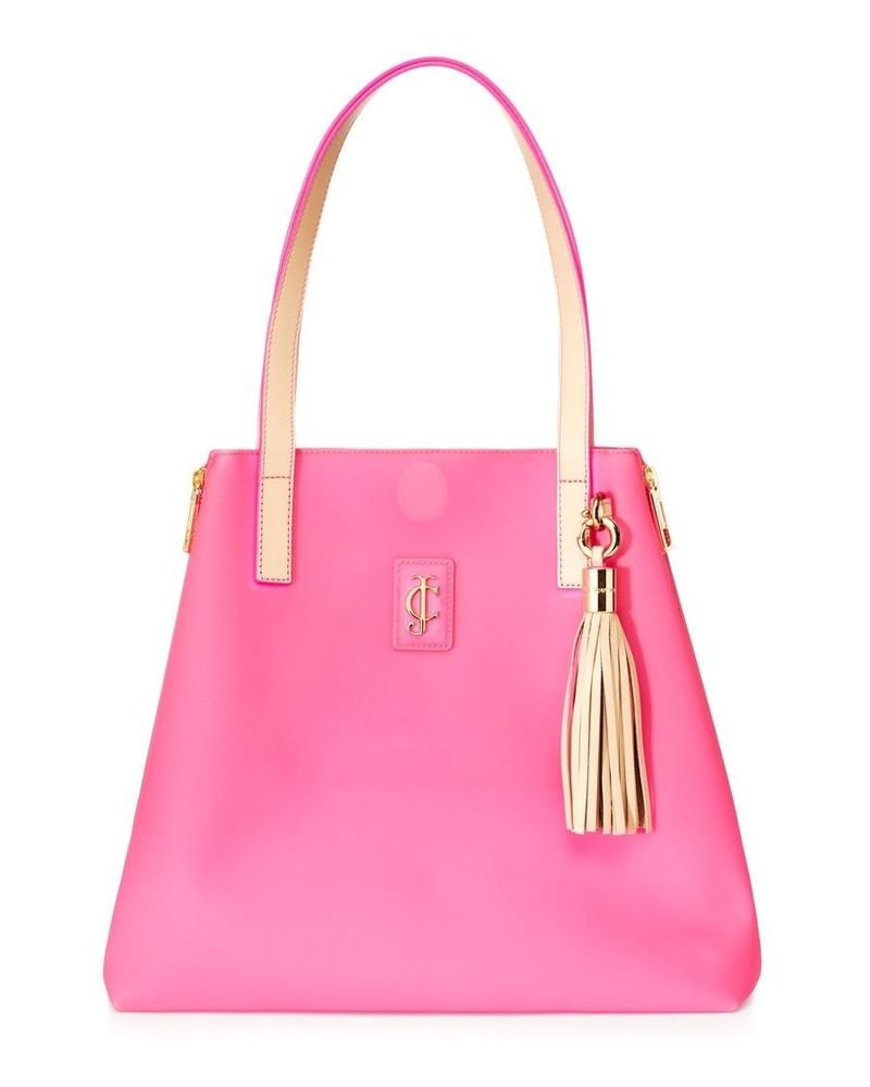 Juicy Couture Pacific Coast Jelly Wing Tote Shoulder  Bag in Pink-NWT $148