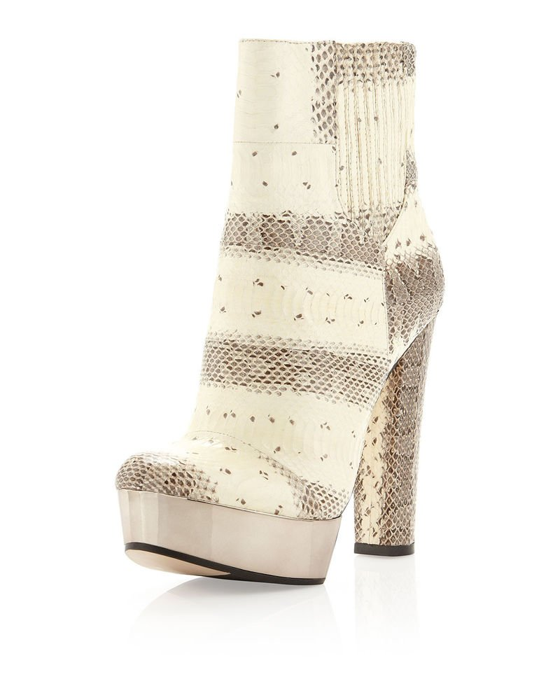 Rachael Zoe London Real Snake Platform Boot in Beige Size 9.5-NIB-RP:$525