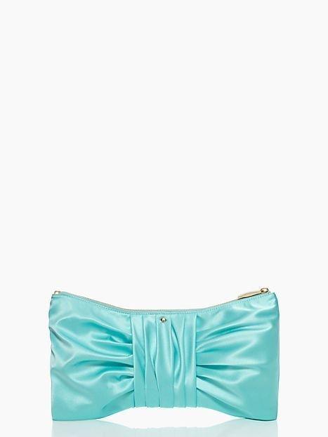 Kate Spade New York Wedding Belles Silka Clutch Bag in Robin's Egg-NWT: SRP:$298