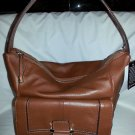 B. Makowsky Bond Street Leather Hobo Shoulder Bag in Maple Brown-NWT-SRP $238.00