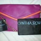 CYNTHIA ROWLEY Leather Envelope Convertible Shoulder/Crossbody Fuschia Pink-NWT