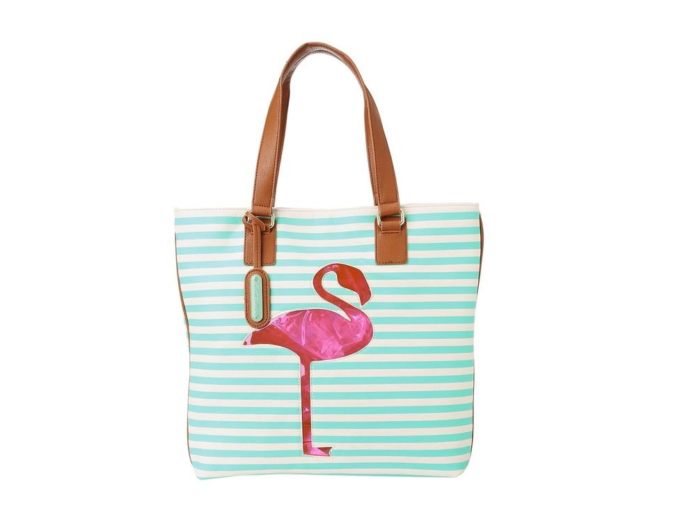 Betsey Johnson Handbags Pink Flamingo Cut It Out Tote Bag in Gumby-NWT-RP: $88