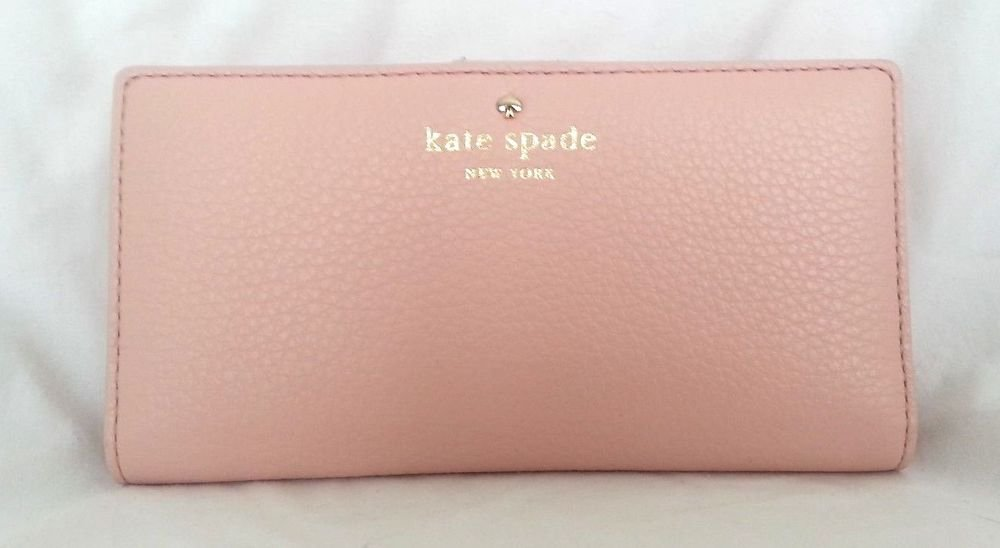 Kate Spade New York Cobble Hill Stacy Wallet in Peach Blossom-NWT-$128