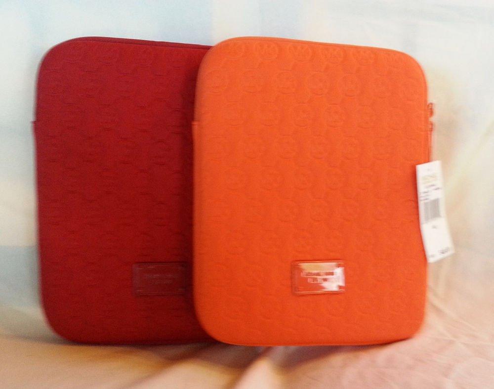 Michael Kors Handbag Neoprene iPad/Ereader Case Red/Lime/Tangerine-NWT-SRP:$48