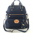 EMMA FOX Leather Classics Tote/Crossbody Bag in Ultramarine Blue-NWT-SRP:$298.00