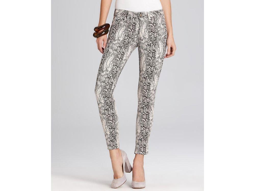 Hudson Midrise Nico Super Skinny Jeans in Viper Print Size 27-NWT-SRP:$189