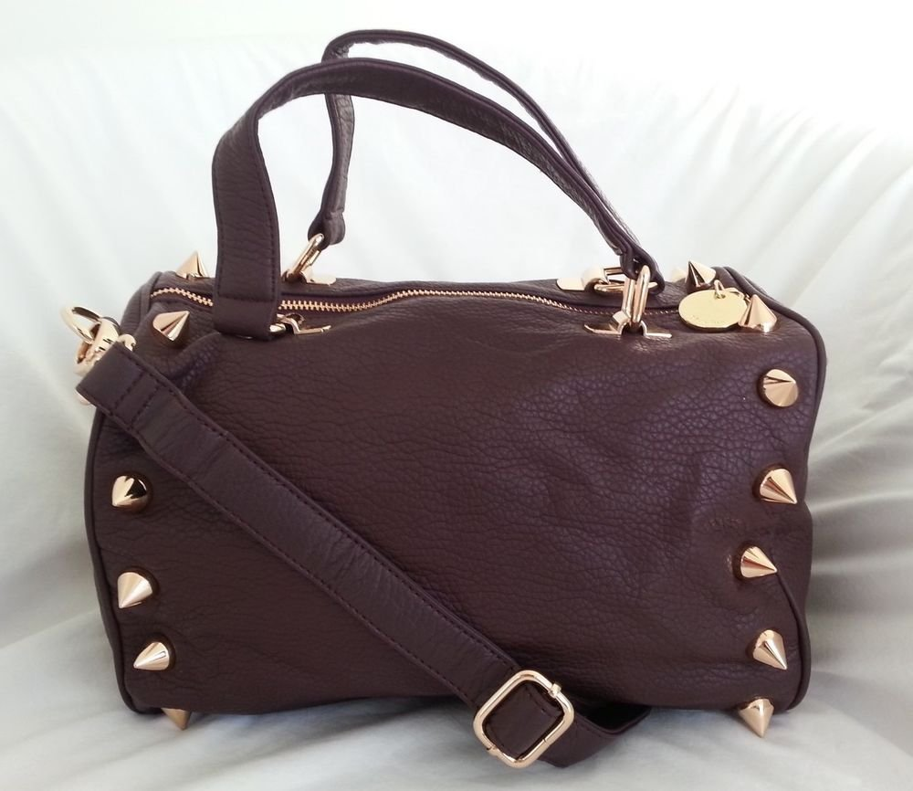 Deux Lux Handbag - Empire State Small Duffel in Burgundy-NWT-RP $170
