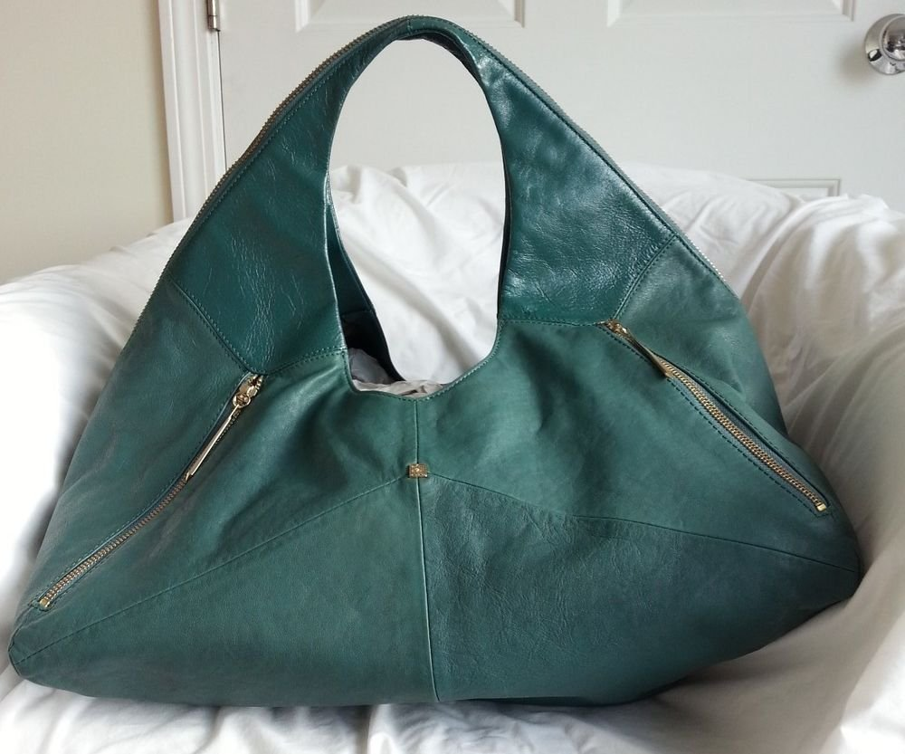 Pour La Victoire Leather Large Nouveau Hobo Shoulder Bag in Green-NWOT-RP: $575