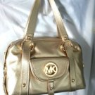Michael Kors Leather Fulton Large Satchel Shoulder Bag in Pale Gold-NWT-SRP:$398