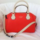 Kate Spade Handbag Catherine Street Pippa Satchel Shoulder Bag Red NWT: RP: $398