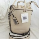 Badgley Mischka Leather Kim Bucket Bag/Crossbody Oyster or Oatmeal-NWT-RP:$345