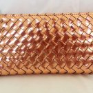 Deux Lux Wallet Metallic Sparkle-Zip-Around Silver, Gold, Rosegold-NWT-RP: $80
