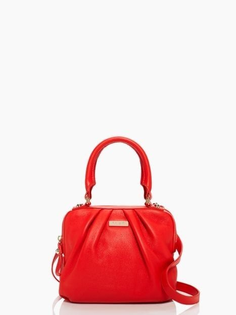Kate Spade New York Five Points Kinsey Leather Satchel Handbag in Flame NWT