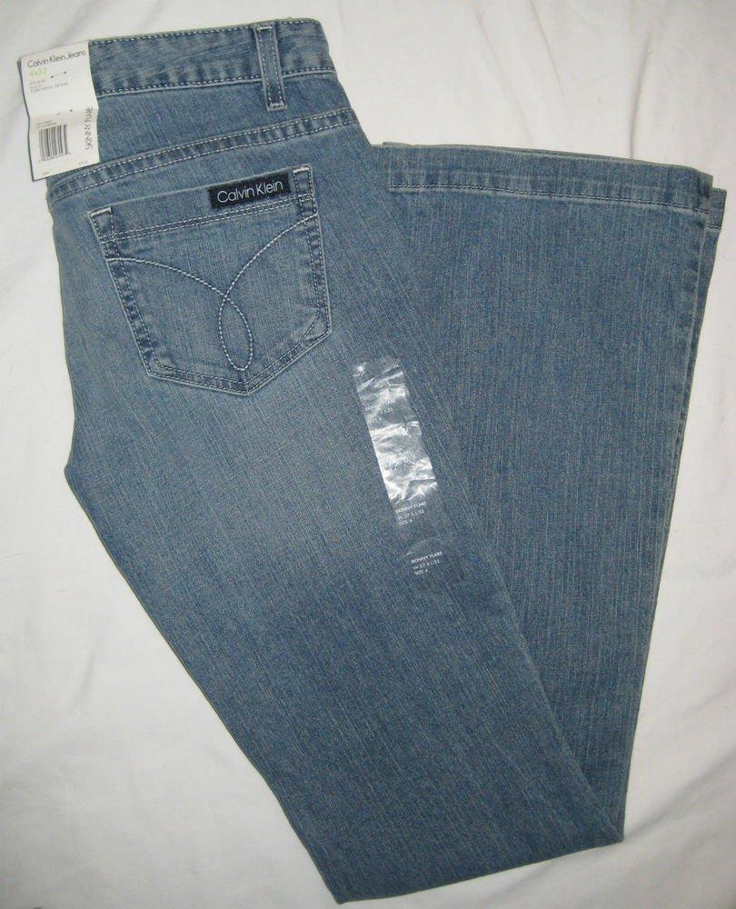 Women's Calvin Klein Jeans Skinny Flare in Shoreline Rinse Sz 4 x 32 SRP $79.50