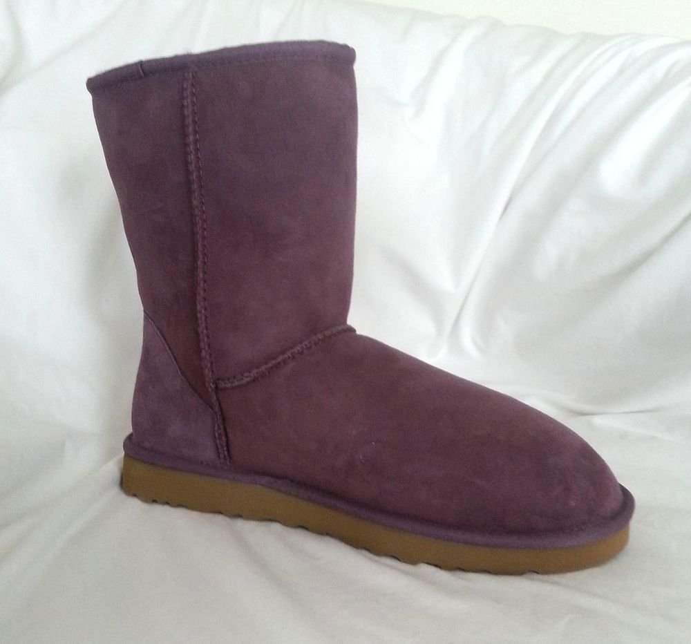 UGG Australia Suede Women Classic Short Boot in Purple Velvet Sz 10-NIB-RP:$155
